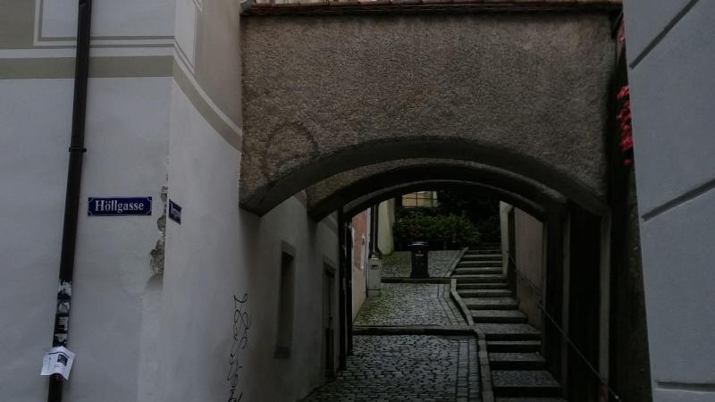Photo of narrow road in Passau, Bavaria