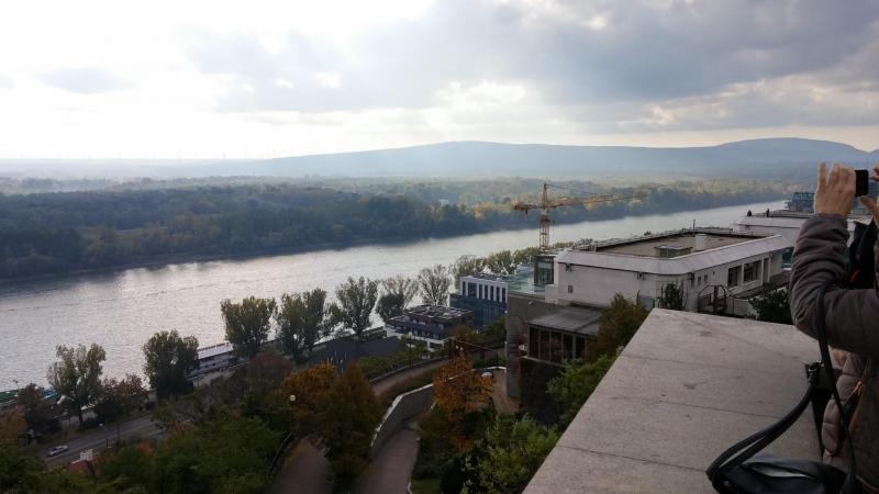 Photo of the Danube River from the Bratislava Castle