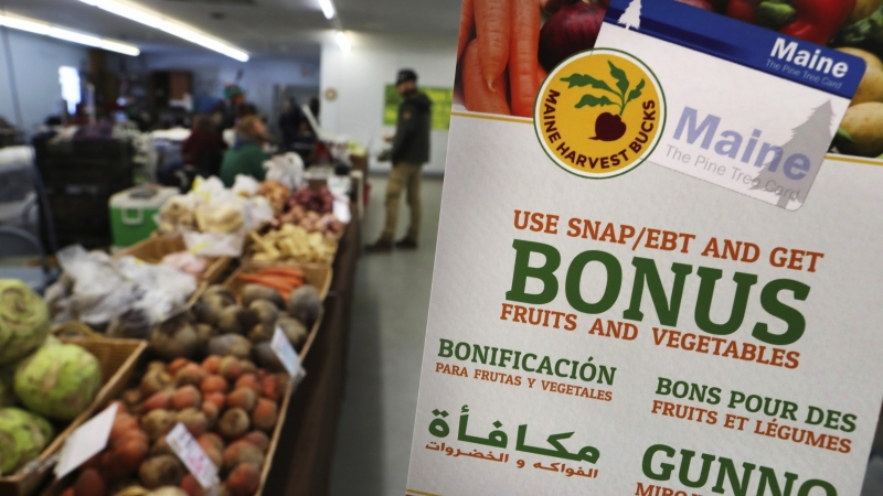 SNAP benefits at grocery store