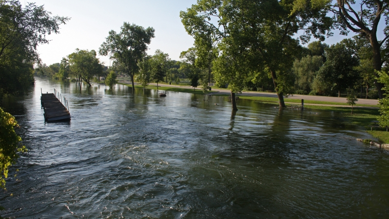 Water continues to rise in the Yahara River in Madison after a flash flood