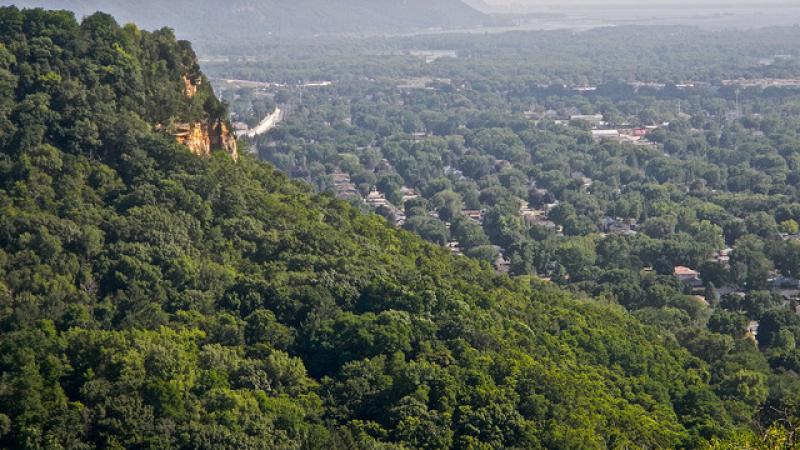 View from La Crosse bluffs
