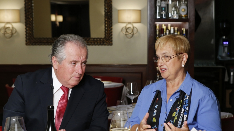 Restaurateur Angelo Vivolo, left, joins Felidia owner Lidia Bastianich