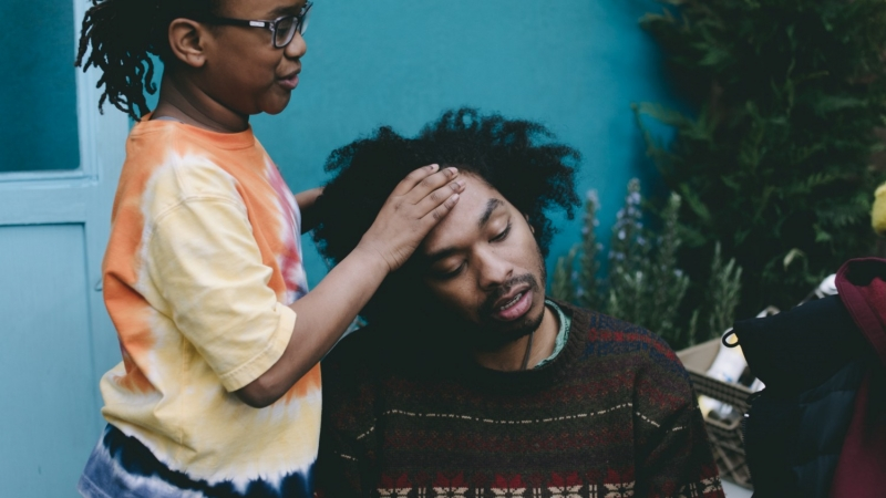 """Malakai Nance and Terence Nance in a scene from HBO's """"Random Acts of Flyness"""""""