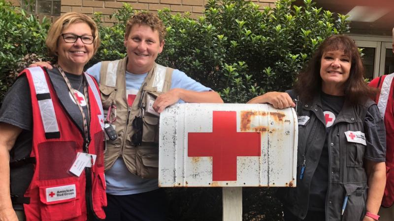 June Shakhashiri, Brenda Haney, Judy Giacomino, Middleton, Hurricane Florence, North Carolina, Red Cross