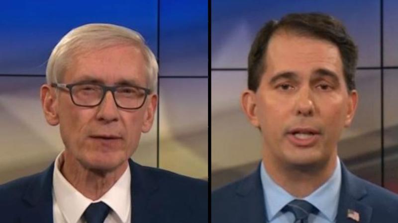 Scott Walker, Tony Evers, debate, October 2018