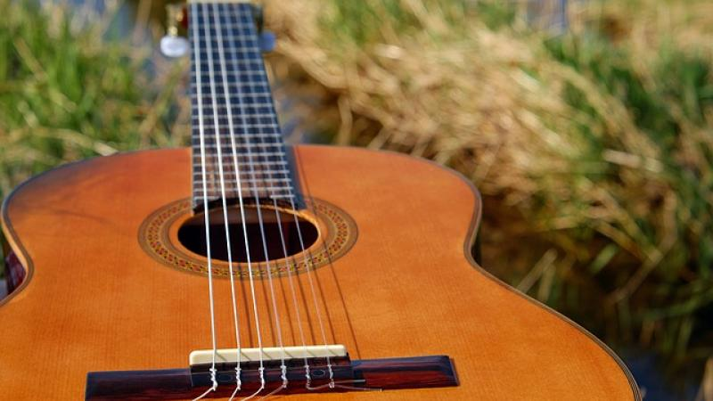 guitar, acoustic, music, musician