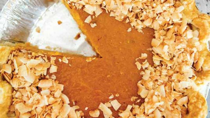 Sweet Potato Coconut Pie