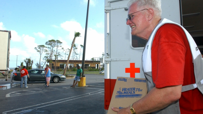 US Red Cross worker, Hurricane Dennis