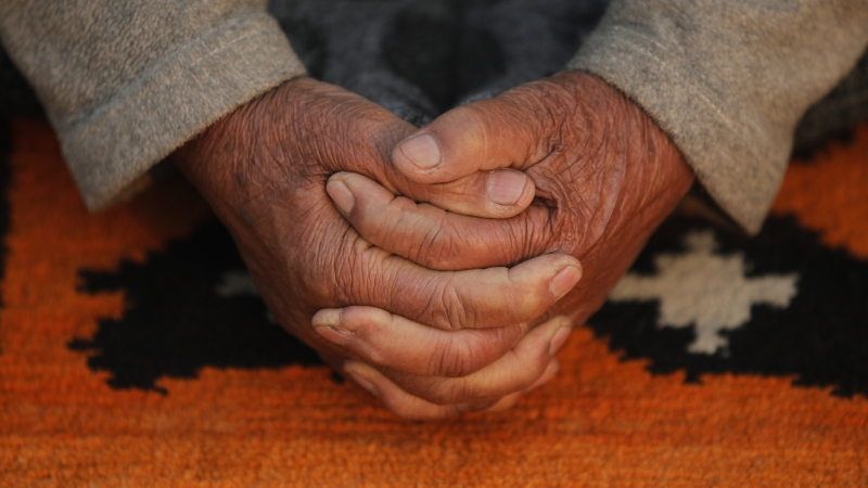 Yoga Folded Hands Old Elderly Prayer Goals Dreams