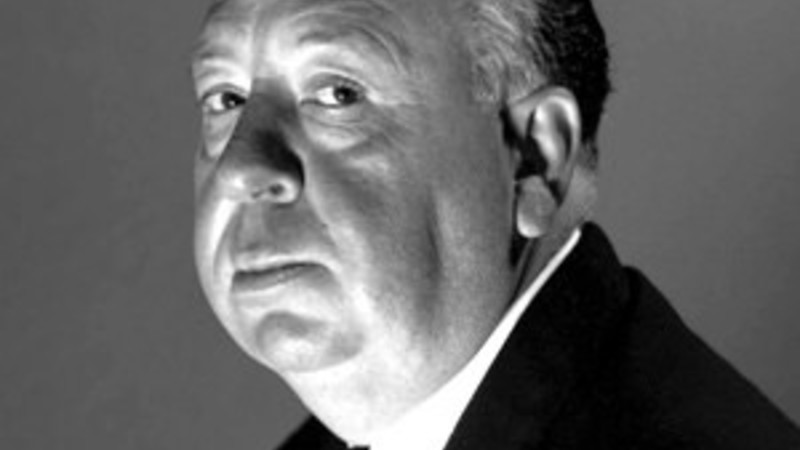 Early photo of director Alfred Hitchcock