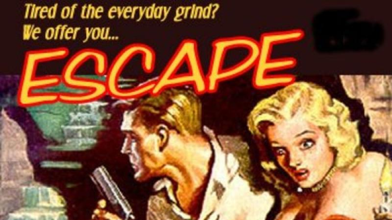 Promotional illustration for the radio program Escape