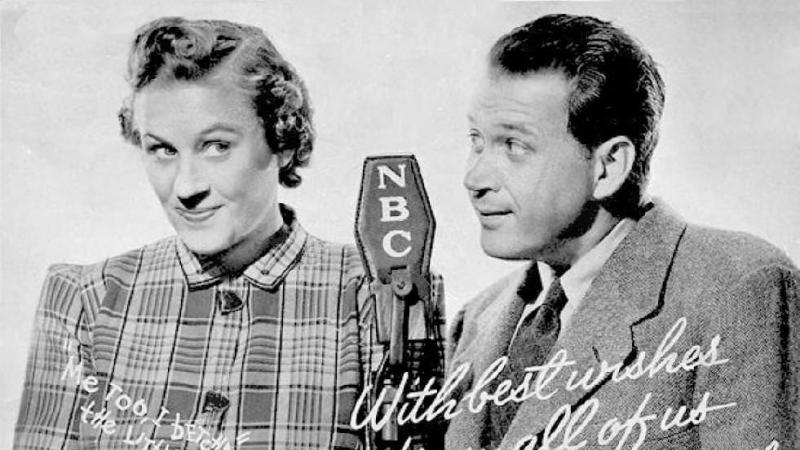 Photo of actors playing Fibber McGee & Molly