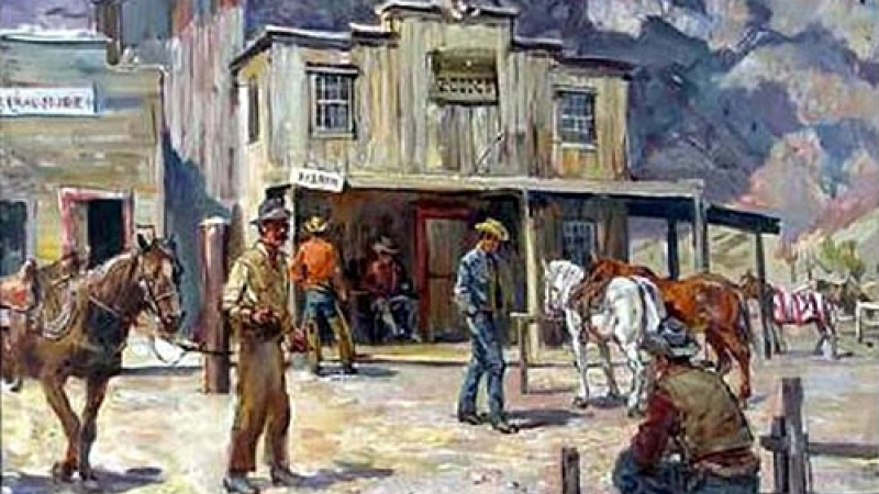 Illustration for the radio program Frontier Town