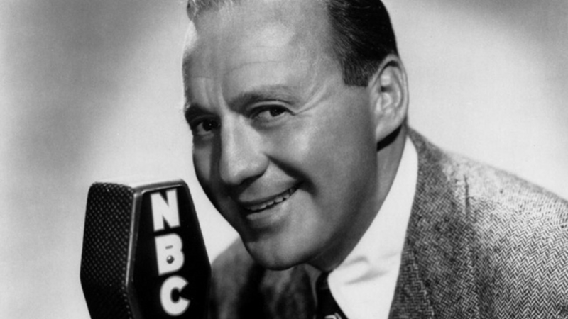 Photo of radio actor and comedian Jack Benny