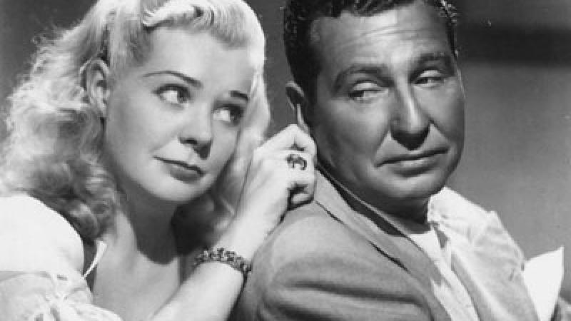 Photo of radio comedians Phil Harris and Alice Faye