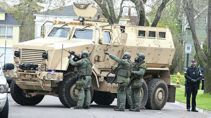 In this photo from May 2017, the Superior Police Department's MRAP is used during an incident in the city.