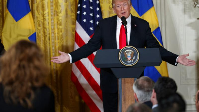 President Donald Trump speaks on March 6