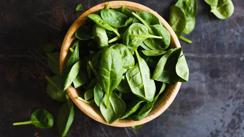 basil leaves in bowl