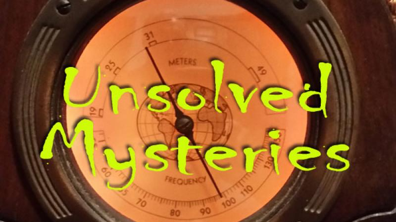 Promotional graphic for Unsolved Mysteries