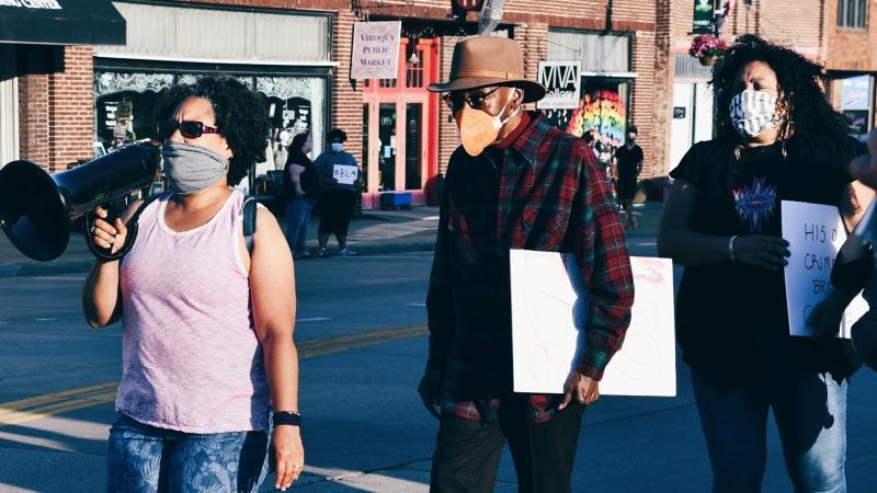 A Monday, June 1 protest was held in Viroqua in the wake of the death of George Floyd in Minneapolis in late May.