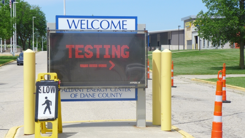 Dane County's free community COVID-19 testing site