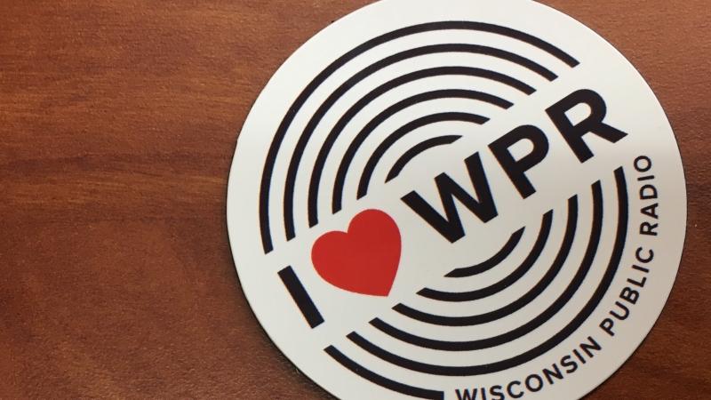 """An """"I Heart WPR"""" magnet"""