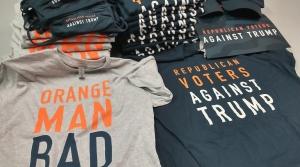 Anti-Trump T-shirts and hats