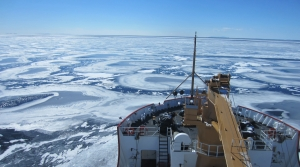 USCG Mackinaw in Lake Superior. March 28, 2014