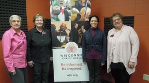 Sister Mary Arnoldussen, Vickie Kendle, Arlette Rodriquez-Miller and Pat Ruda