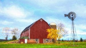 A well-kept barn