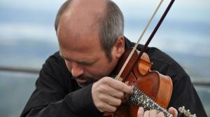 Norwegian Hardanger fiddle player