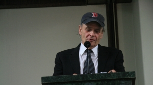 Author Tim O'Brien at a speaking event