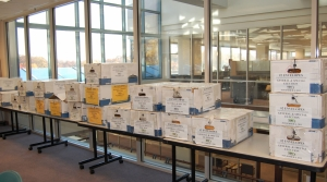 Boxes of ballots just prior to canvassing.