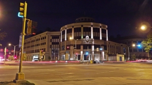 A view of the UW-Madison business school from across the street.