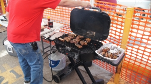Tailgating on game day.