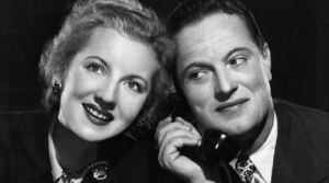 Photo of radio actors Alice Frost and Joseph Curtin