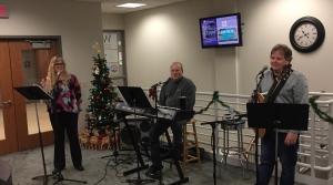 Members of the John Altenburgh Christmas Extravaganza