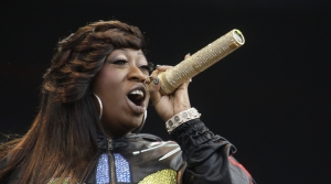 Missy Elliot performs onstage at the Wireless Festival in Hyde Park