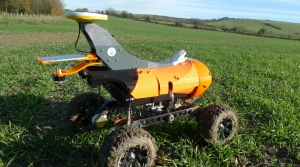A farming robot designed to seed, weed and feed crops