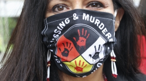 Missing and Murdered Indigenous Women mask