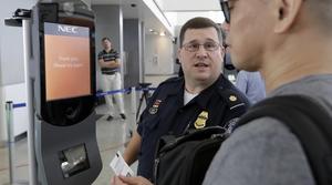 Airport facial recognition kiosk