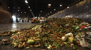 Produce waste in a warehouse