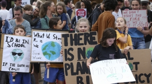 Children at climate change protest
