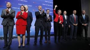 Democratic presidential candidates at Nevada fundraiser