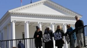 Equal Rights Amendment supporters demonstrate outside Virginia State Capitol in Richmond