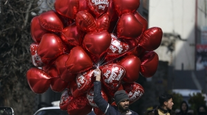 Man selling ballons