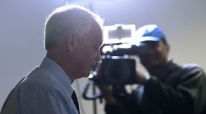 Sen. Ron Johnson, R-Wis., walks past reporters after attending a Republican policy lunch on Capitol Hill in Washington, Thursday, March 19, 2020