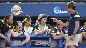 University of Michigan softball team
