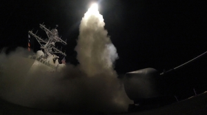 USS Porter (DDG 78) launches a tomahawk land attack missile