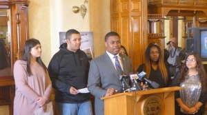 Milwaukee Youth Council President Kalan Haywood, II introduces the No Free Rides Campaign aimed at reducing youth involved carjackings